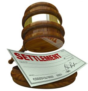 gavel showing settlement